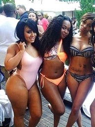 Amazing ebony babes in bikini at hot..