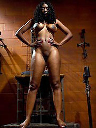 Femdom hot pictures of ebony busty babe..