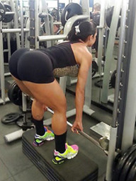 Hot ebony sportswoman with very round..