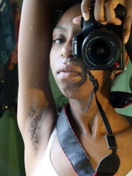 Nice nude self-shot pics from black..