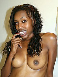 Cute black hoe showing her cum..