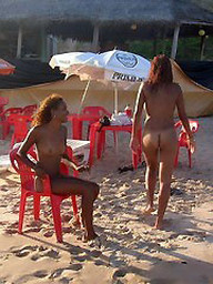 Two sexy ebony chicks were shot naked..
