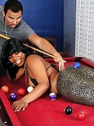 Blue ebony babe Vanessa Monet takes cum..