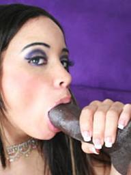 Sexy Simone fucks a hulking dick